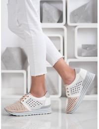 Stilingi švelnių spalvų batai su patogia platforma - A119-02-01NU
