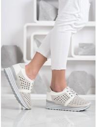 Stilingi švelnių spalvų batai su patogia platforma - A119-02-01PIE