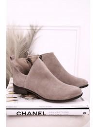 Aukštos kokybės zomšiniai natūralios odos batai NICOLE - 2605/024 CAPPUCCINO