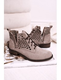 Zomšiniai natūralios odos stilingi originalūs aukštos kokybės batai - 2628/024 CAPPUCCINO