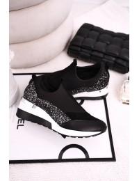 Stilingi prabangaus dizaino aukštos kokybės batai  - 2574 BLK/SILVER