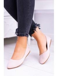 Delicate Pointed Toe Ballerinas Suede Beige Dermeno - CD52P / WD39 BEIGE