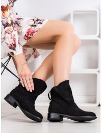 Juodos spalvos stilingi zomšiniai batai su pašiltinimu - H5892B