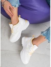 Baltos spalvos patogūs sportinio tipo stilingi batai - R-67Y
