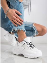 Baltos spalvos patogūs sportinio tipo stilingi batai - R-67B