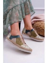 Bohemiško stiliaus aukštos kokybės rankų darbo batai - 03339-09/00-5 GREEN