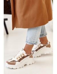 Madingi prabangaus stiliaus batai - AB833 WHITE