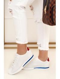 Balti stilingi laisvalaikio stiliaus bateliai - BL221P RED