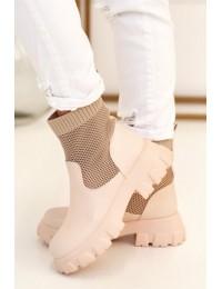 Stilingi originalūs išskirtiniai aukštos kokybės batai - JW122 BEIGE