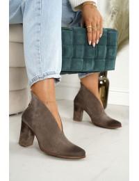 Natūralios verstos odos stilingi aukštos kokybės batai - 1231 ALMOND.WELUR
