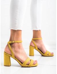 Elegantiškos geltonos spalvos aukštakulnės basutės\n - K2012501AMA