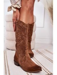 Natūralios verstos odos itin aukštos kokybės stilingi batai ažūriniu aulu - 1229 KONIAK.WELUR