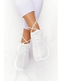 Patogūs lengvi stilingi balti sportinio stiliaus bateliai - NB392P WHITE