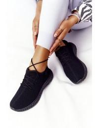 Patogūs lengvi stilingi juodi sportinio stiliaus bateliai - NB392P BLACK