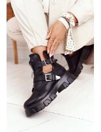 Madingi originalaus dizaino aukštos kokybės juodi batai - 20211-50C BLK
