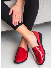 Raudonos lakuotos odos stilingi bateliai - GD-FL326R