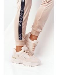 Stilingi smėlio spalvos batai Beige Good Mood - VL131 BEIGE