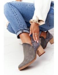 Natūralios versto odos stilingi aukštos kokybės batai - 04492-27/00-5 POPIEL GAD