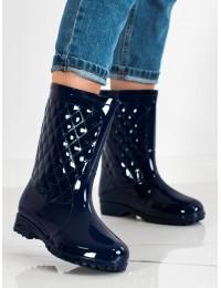 Tamsiai mėlyni stilingi guminiai batai - HM-01N