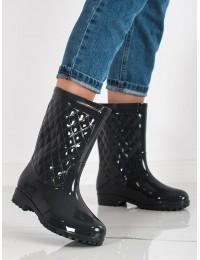 Pilkos spalvos stilingi guminiai batai - HM-01G