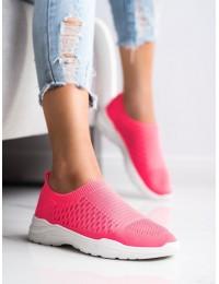 Ryškios rožinės spalvos SLIP ON stiliaus laisvalaikio bateliai - 9862F/W