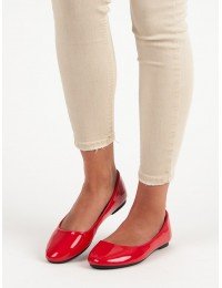 Raudoni lakuotos odos elegantiški bateliai - 9988-60R
