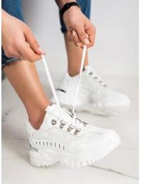 Balti šiuolaikiško dizaino stilingi batai - VL131W