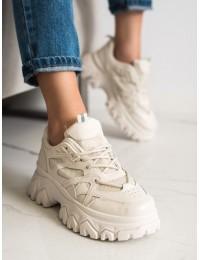 Smėlio spalvos batai su masyvia madinga platforma - LA152BE