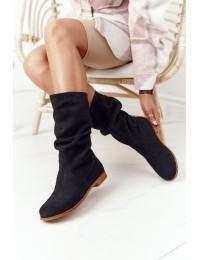Verstos natūralios odos juodos spalvos aukštos kokybės auliniai batai - 05057-01/00-6 BLK