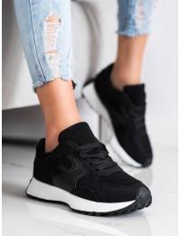 Stilingi aukštos kokybės juodi sportinio stiliaus batai - BL209B
