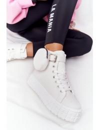 Madingi batai su priderinta kišenėle - pinigine - 3905 WHITE