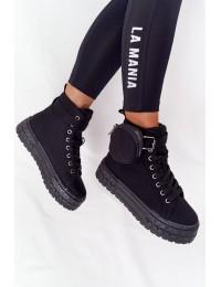 Madingi batai su priderinta kišenėle - pinigine - PC88 BLACK