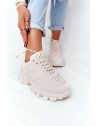 Smėlio spalvos madingi sportinio stiliaus batai - LA155 BEIGE