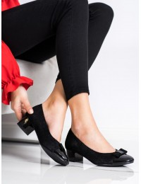 Elegantiški klasikinės juodos spalvos aukštos kokybės bateliai - XY21-10588B