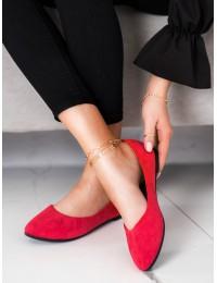 Klasikinės aukštos kokybės raudonos spalvos balerinos\n - BOB21-18036R
