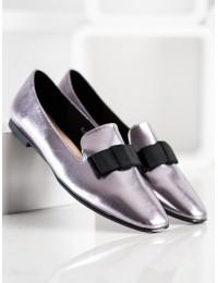 Pilkos blizgios spalvos išskirtiniai stilingi bateliai - BL600S