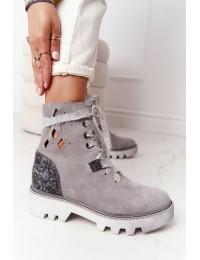 Itin aukštos kokybės stilingi natūralios odos batai ažūriniu aulu - 05033-03/00-5 POPIEL