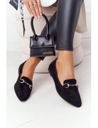 Elegantiški juodi Sergio Leone bateliai - MK711 MIC BLK