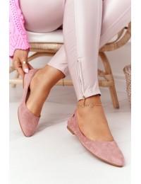 Stilingi zomšiniai rožinės spalvos aukštos kokybės bateliai - BL622 PINK MIC