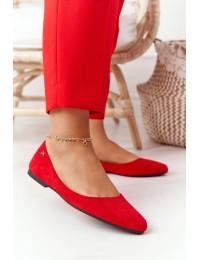 Stilingi zomšiniai raudoni aukštos kokybės bateliai - BL622 RED MIC