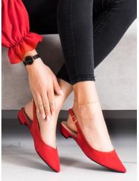 Stilingi raudoni elegantiški bateliai - MM-801R