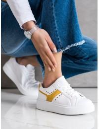 Baltos odos stilingi suvarstomi aukštos kokybės bateliai - LC9728Y