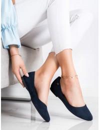 Stilingi zomšiniai mėlyni aukštos kokybės bateliai\n - BL622N