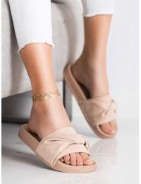 Stilingos zomšinės rožinės šlepetės - OCA21-2191P