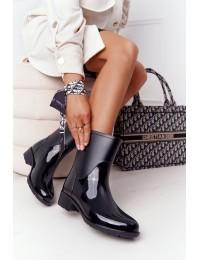 Aukštos kokybės stilingi guminiai batai Black Rainy Day - DC13 BLK