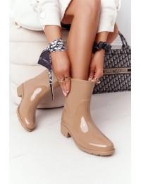 Aukštos kokybės stilingi guminiai batai Beige Rainy Day - DC13 BEIGE