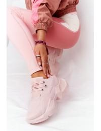 Rožiniai modernaus dizaino stilingi sportinio stiliaus batai\n Pink Bubbly - LA95 PINK