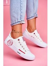 Aukštos kokybės Cross Jeans balti bateliai - FF2R4072C WHITE