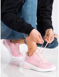 Rožinės spalvos stilingi patogūs sportiniai bateliai - LV109P