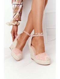 Elegantiški bateliai - basutės su platforma Pink Avocado - BL1919-11 PINK mini